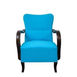 Art deco türkiz fotel, Otthon & lakás, Bútor, Szék, fotel, Art deco türkiz fotel  Egyedi tervezésű Art deco fotel ,amely kiválóan mutat a hálószobánkban. A fot..., Meska