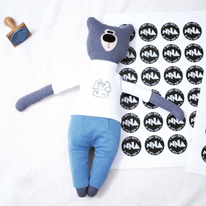 Medvendel öltöztethető maci, Játék & Gyerek, Plüssállat & Játékfigura, Maci, Varrás, Újrahasznosított alapanyagból készült termékek, Medvendel 50cm magas, 100% gyapjú filcből és 100% újrahasznosított pamutból készült.\nKérhető 100% ká..., Meska
