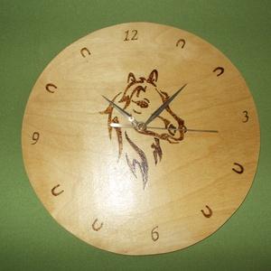 Falióra, Egyéb, Otthon & lakás, Lakberendezés, Falióra, óra, Pirográf  technikával mintázott fali óra. Átmérője :20 cm.Más méretben és mintával is elkészítem ,ke..., Meska