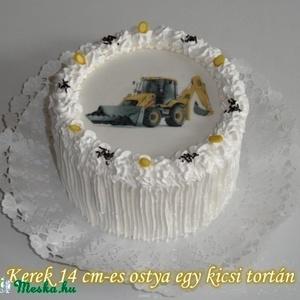 Tortafotó, Ehető fénykép , Ostya , Torta dekoráció Egyedi Kerek 14 cm-es (enisteis) - Meska.hu