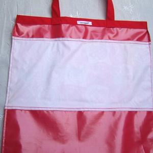 Bevásárló szatyor , vízálló . Impregnált anyagokból, Piros  (ennavel) - Meska.hu