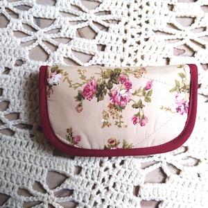 Papírzsepi tartó 10 darabos , bordó, rózsaszín,vintage   virágos - Meska.hu
