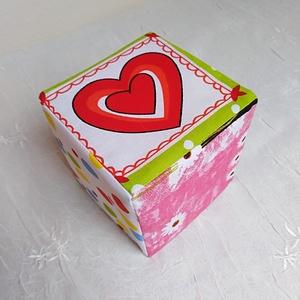 Baba kocka, kézségfejlesztő. színek, figurák, formák 10 X 10 cm - Meska.hu