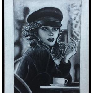 coffee break, Művészet, Festmény, Akril, Festett tárgyak, Festészet, Meska