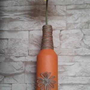 Narancs váza, Otthon & Lakás, Dekoráció, Váza, Festett tárgyak, Mindenmás, Már a tavaszra készülvén született meg ez a vidám hangulatú narancs színű váza. \nNarancs(- és citrom..., Meska