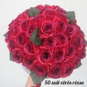 Ünnepi rózsadoboz, Esküvő, Ünnepi dekoráció, Dekoráció, Otthon & lakás, Virágkötés, Születésnapra, aranylakodalomra, esküvőre keresel virágot? \n\nLepd meg szeretteid élethű selyemrózsa ..., Meska