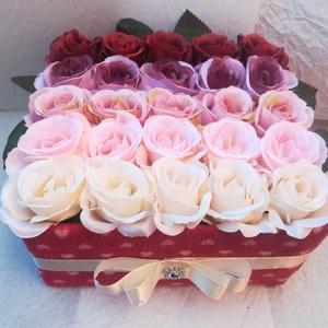 Ombre Roses, színátmenetes rózsabox, különleges ajándék, Esküvő, Otthon & lakás, Dekoráció, Lakberendezés, Asztaldísz, Meghívó, ültetőkártya, köszönőajándék, Virágkötés, Elbűvölnéd Őt egy ombre rózsadobozzal? Nemcsak egyedi, de divatos is. Ilyet nem kapsz máshol! \nÉleth..., Meska