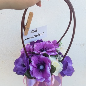 Szellőrózsás virágtáska, Táska, Kiegészítők, Esküvő, Virágkötés, Kifinomult virág táska, mely pazar kiegészítője lesz az alkalmi ruhádnak.\nElsősorban koszorúslányokn..., Meska