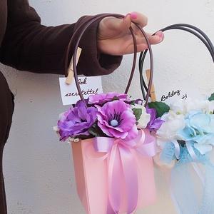 Virágtáska szett (2 db), Otthon & Lakás, Dekoráció, Csokor & Virágdísz, Virágkötés, Kifinomult virág táska, mely pazar kiegészítője lesz az alkalmi ruhádnak.\nElsősorban menyasszonyokna..., Meska