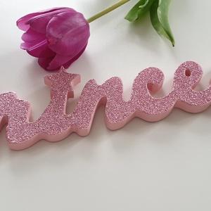 Princess felirat, ajtó dísz /fali dísz/ gyerekszoba dekoráció , Gyerek & játék, Gyerekszoba, Baba falikép, Princess dekoráció kislányok szobájába.  Csillogó felületű ket kampóval felfüggeszthető. , Meska