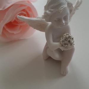 Little angel/mini angyalka/ esküvői ajándék /ajándék angyalka, Nászajándék, Emlék & Ajándék, Esküvő, Kerámia, Ezek az apró kis kerámia angyalkák, természetüknél fogva azonnal rabul ejtenek minket.\nNagyszerű  kö..., Meska