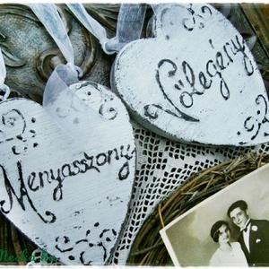 Vintage Esküvő és szívek, Esküvő, Emlék & Ajándék, Nászajándék, Festett tárgyak, Meska