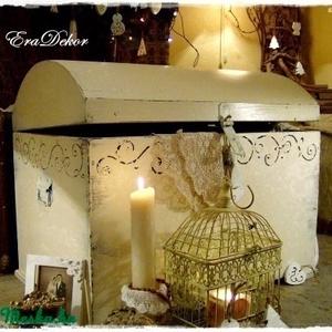 -Provence-i hangulatú  kincsesláda, Esküvő, Emlék & Ajándék, Nászajándék, Romantikus provence-i hangulat  a hálószobában. Esküvői nászajándék is lehet. Egyedi, különleges, de..., Meska