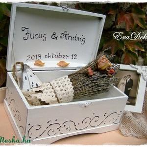 Esküvőre levendulás  ajándék doboz  (Eradekor) - Meska.hu