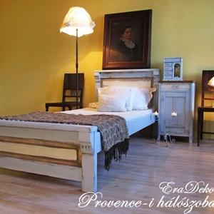 Provence-i   hálószobák, Bútor, Otthon & lakás, Ágy, Lakberendezés, Festett tárgyak, Provence-i hangulatok a hálószobában.\nAntikolt levendulakék festéssel készült tömör fenyő ágy.\nRuszt..., Meska