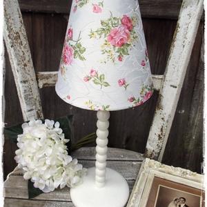 Fa vintage lámpa- Fehér (Eradekor) - Meska.hu