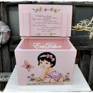 Rózsaszín játéktároló (Eradekor) - Meska.hu