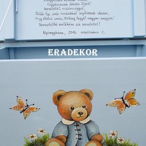 Keresztelőre mackós láda kisfiúknak (Eradekor) - Meska.hu