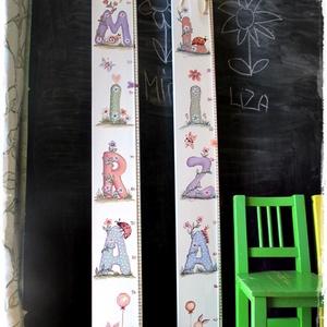 Magasságmérő gyerekeknek, Játék & Gyerek, Babalátogató ajándékcsomag, Személyre szóló magasságmérőket  festünk kislányoknak és kisfiúknak. Játékos betűkkel és állatokkal ..., Meska