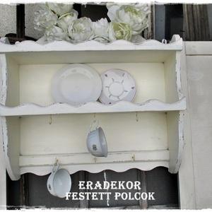 Vintage polc, faragott díszítéssel - otthon & lakás - bútor - polc - Meska.hu