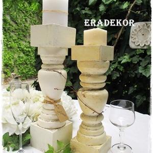 Vintage esküvőkre gyertyatartók (Eradekor) - Meska.hu