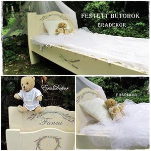 Levendulás álom ágy, Ágy, Bútor, Otthon & Lakás, Festett tárgyak, Vintage hangulatú, festett, romantikus ágy,\nkislányoknak és nagylányoknak a gyerekszobába, \nvagy a p..., Meska