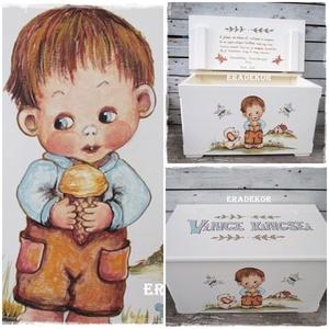 Játéktároló  meseládák keresztelőre, Játék & Gyerek, 3 éves kor alattiaknak, Festett tárgyak, A képeken látható ládákat már használják a boldog tulajdonosok.\nHasonlót készítünk megrendelésre.\nA ..., Meska