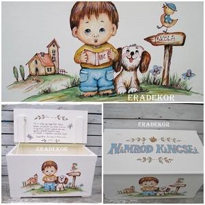 Játéktároló meseládák, Játék & Gyerek, 3 éves kor alattiaknak, Festett tárgyak, A képeken látható ládákat már használják a boldog tulajdonosok.\nHasonlót készítünk megrendelésre.\nA ..., Meska