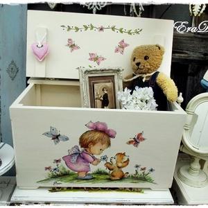 Meseláda keresztelőre, Játék & Gyerek, 3 éves kor alattiaknak, Festett tárgyak, A képeken látható ládákat már használják a boldog tulajdonosok.\nHasonlót készítünk megrendelésre.\nA ..., Meska