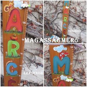 Magasságmérő a névnapomra, Játék & Gyerek, 3 éves kor alattiaknak, Festett tárgyak, Személyre szóló magasságmérőket  festünk a gyerekszobákba.\nEz a barnára pácolt,  egy kisfiúnak készü..., Meska
