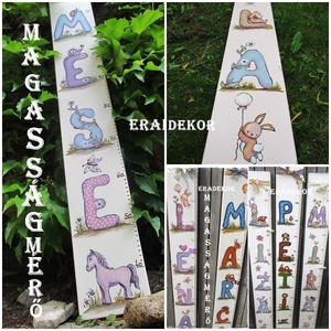 Magasságmérő a névnapomra, Játék & Gyerek, 3 éves kor alattiaknak, Festett tárgyak, Személyre szóló magasságmérőket  festünk a gyerekszobákba.\nKislányoknak és kisfiúknak készülnek a me..., Meska
