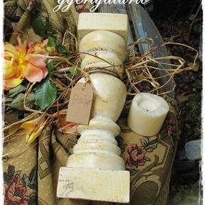 Romantikus fa gyertyatartók, Otthon & Lakás, Dekoráció, Gyertya & Gyertyatartó, Romantikus hangulatot varázsolnak ezek a rusztikusan romantikus fa gyertyatartók. A fa gyertyatartók..., Meska