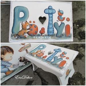 Sámli a névnapomra, Játék & Gyerek, 3 éves kor alattiaknak, Névre szóló sámlikat készítünk gyerekeknek. BIZTONSÁGOS BABABÚTOR!! Állatos, virágos, mesés sámlik k..., Meska