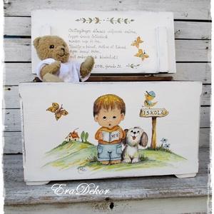 A kisfiú és a kutyus meséje, Játék & Gyerek, 3 éves kor alattiaknak, Festett tárgyak, Meska