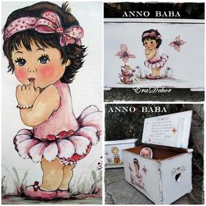 A balerina kislány és a cicus  meséje, Játék & Gyerek, Babalátogató ajándékcsomag, Festett tárgyak, Meska