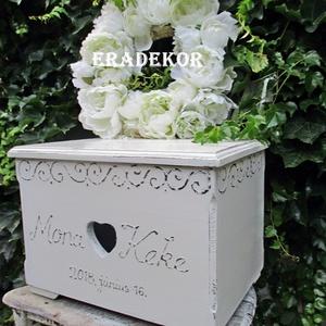 Vintage esküvőre nászajándék, Esküvő, Emlék & Ajándék, Nászajándék, Festett tárgyak, Meska