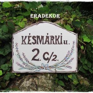 Vintage levendulás  házszámtábla - Meska.hu