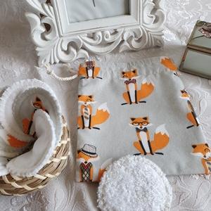 Arctisztító korongok, kis zsákkal együtt. London rókák (erikabanasz) - Meska.hu