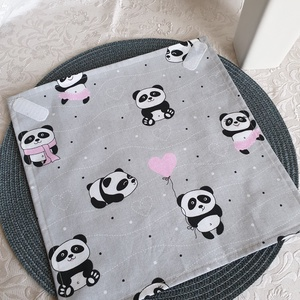 Újraszalvéta - Pandamacis , NoWaste, Textilek, Kendő, Textil tároló, Varrás, Újra és újra használható szalvéta egyszerű alternatívája a szalvétáknak, alufóliáknak, csomagolóanya..., Meska