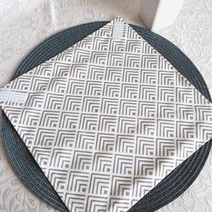Újraszalvéta - Férfiaknak, NoWaste, Textilek, Kendő, Textil tároló, Varrás, Újra és újra használható szalvéta egyszerű alternatívája a szalvétáknak, alufóliáknak, csomagolóanya..., Meska