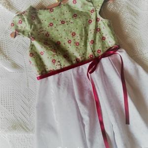 Virágos kert- kislányruha Húsvétra - ünnepekre - hétköznapra , Gyerek & játék, Táska, Divat & Szépség, Ruha, divat, Gyerekruha,    Gyönyörű, színes tavaszi-nyári ruhácskát készítettem kicsiknek. Hogy még színesebb legyen, ezért ..., Meska