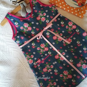 Virágosrét- kislányruha- farmerhatású , Gyerek & játék, Táska, Divat & Szépség, Ruha, divat, Gyerekruha,    Gyönyörű, színes tavaszi-nyári ruhácskát készítettem kicsiknek, minőségű farmerhatású, virágmintá..., Meska