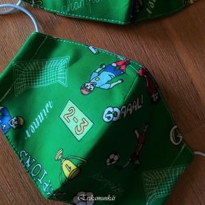 AKCIÓ - 3 db arcmaszk, 3 rétegű gyerekmaszk, foci rajongók, női maszk, textilmaszk, szájmaszk  (Erikaboltja) - Meska.hu