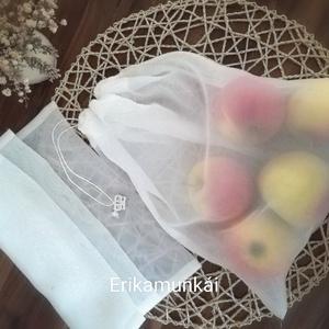 Zöldség, gyümölcs textilzsák- ökozacskó NOWASTE (Erikaboltja) - Meska.hu