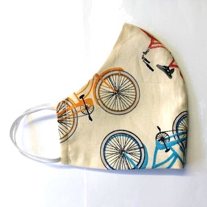 Biciklis Textil mosha tó maszk, arcmaszk, szájmaszk (felnőtt), Táska, Divat & Szépség, Szépség(ápolás), Maszk, szájmaszk, Egészségmegőrzés, Varrás, Dupla rétegű 100% pamutvászonból készült. A külseje mintás, a belő fele fehér.\nTermészetesen varrás ..., Meska