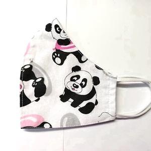 Panda maci  Textil mosha tó maszk, arcmaszk, szájmaszk (felnőtt), Táska, Divat & Szépség, Szépség(ápolás), Maszk, szájmaszk, Varrás, Dupla rétegű 100% pamutvászonból készült. A külseje mintás, a belő fele fehér.\nTermészetesen varrás ..., Meska