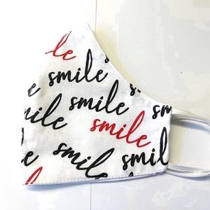 Smile Textil mosha tó maszk, arcmaszk, szájmaszk (felnőtt), Táska, Divat & Szépség, Szépség(ápolás), Maszk, szájmaszk, Varrás, Dupla rétegű 100% pamutvászonból készült. A külseje mintás, a belő fele fehér.\nTermészetesen varrás ..., Meska