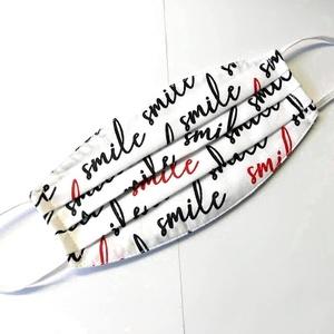 Smile Textil mosha tó maszk, arcmaszk, szájmaszk (felnőtt), Táska, Divat & Szépség, Szépség(ápolás), Maszk, szájmaszk, Egészségmegőrzés, Varrás, Halvány rózsaszín alapon fekete minta.\nDupla rétegű 100% pamutvászonból készült. A külseje mintás, a..., Meska