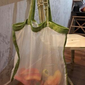 Környezetbarát textilhálós bevásárló táska, Shopper, textiltáska, szatyor, Bevásárlás & Shopper táska, Táska & Tok, Varrás, Környezetbarát-újrafelhasznált-öko vonalat követve: a textil szalvéta, textil bevásárló táska, kenye..., Meska