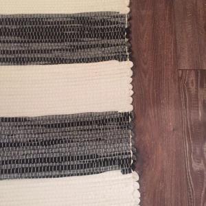szürke-fehér vastag csíkos szőnyeg (erikj) - Meska.hu